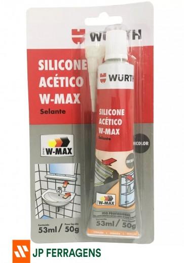 SILICONE ACETIVO INCOLOR W-MAX 50 G WURTH