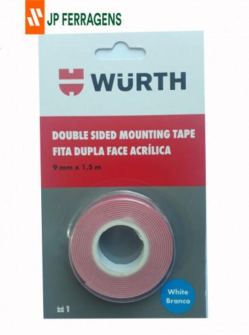 FITA DUPLA FACE BRANCA 9MM X 1,5M WURTH