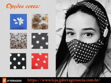 Mascara de tecido com Tiara