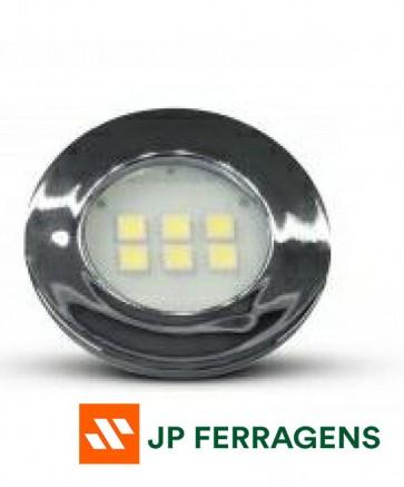 E515.C LUMINARIA CIRCULAR 6 LEDS 6000K CROMADA