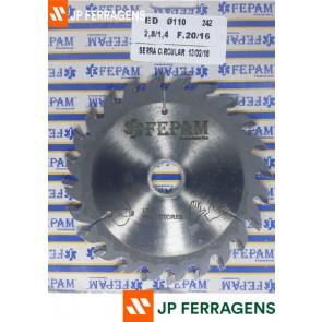 SERRA 110 X 24 L 1,4 C 2,8 FURO 20MM PARA MAQUINAS PORTATEIS REF SW1151101