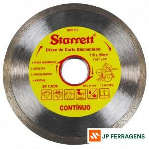 DDC110 DISCO CORTE DIAMANTADO CONTIN 110MM STARRETT