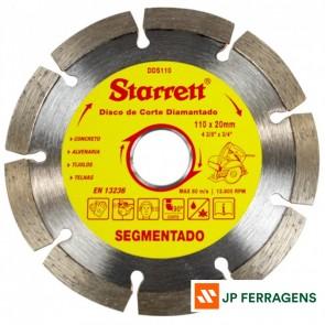 DDS110 DISCO CORTE DIAMANTADO SEGM 110MM STARRET