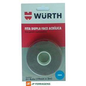 FITA DUPLA FACE CINZA 19MM X 3M WURTH