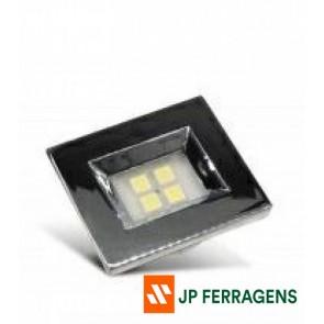 E514.C LUMINARIA RETANGULAR 4 LEDS 6000K CROMADA